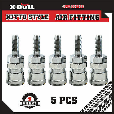 X-BULL 5Pcs Socket Hose Barb Nitto Style Air Fitting Coupler 30SH