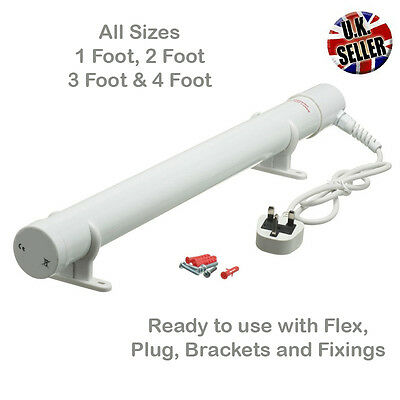 Electric Tubular Heater 1ft, 2ft, 3ft or 4ft Great Shed or Greenhouse Heater
