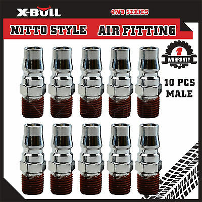 X-BULL 10 Pcs Nitto Style Air Fitting Male Coupler Hose Air Compressor 20PH