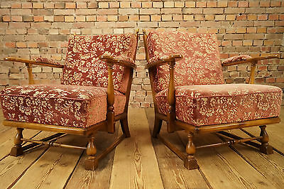 50s VINTAGE Rockabilly 2x COCKTAIL EASY CHAIR ARMCHAIRS CHAIRS FAUTEUIL ARMCHAIR