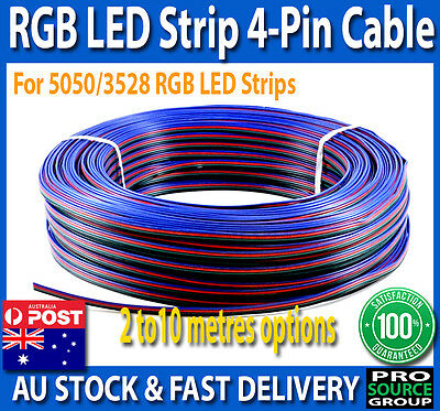 4-Pin Wire Flexible Extension Cable for RGB Led Strip Lights 2/4/6/8/10 Metres