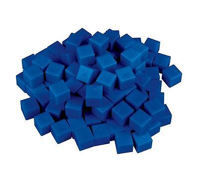 MAB Base Ten Blocks Component Units 100p Blue Maths Education Teacher Learning