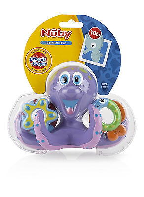 Kids Bath Toys Nuby Octopus Floating Bath Toy Multi-Coloured New