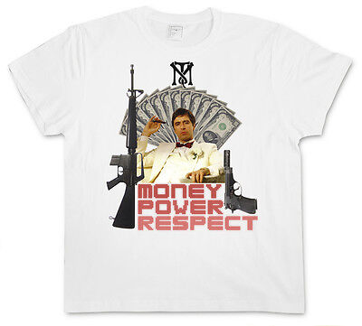 MONEY POWER RESPECT II T-shirt - Tony Al Montana TM Pacino Mob Scarface t-shirt