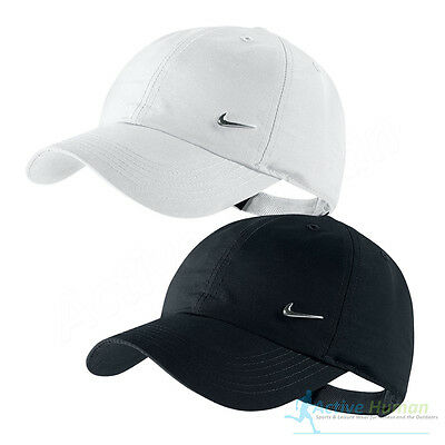 Nike Metal Swoosh Junior Cap Boys Girls Kids Logo Baseball Hat Running Golf