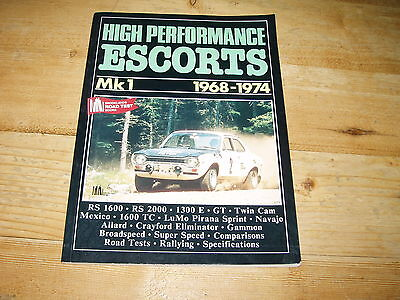 Brooklands  Road Tests Book - High Performance Escorts MK 1  1968-1974 (Scarce)