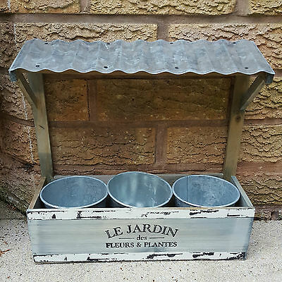 Wooden Wall Garden Planter Pots Herb Window Box Plant Shabby Chic Vintage Style