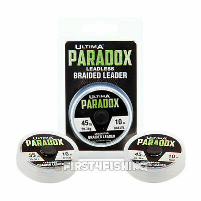 Ultima Paradox Leadless Braided Leader - Carp Pike Coarse Fishing Line Tackle