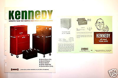 Vintage KENNEDY Mechanics Machinists Tool Chest Box Cabinet CATALOG #RR574