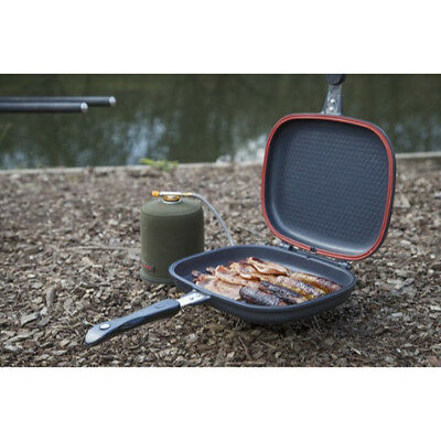 Taska Double Grill Pan - Carp Pike Coarse Sea Fishing Camping Frying Cooking