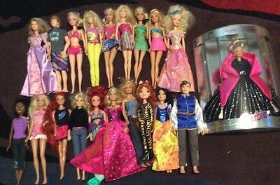BARBIE & Friends DOLL LOT 20 DOLLS WITH CLOTHES MATTEL 1 New