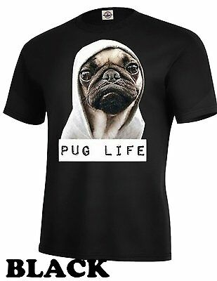 Pug Life Dog With Hoodie Cool Pet Funny Humor Unisex T-Shirt