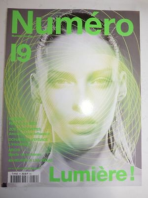 Magazine mode fashion NUMERO #19 decembre janvier 2000 Lumiere