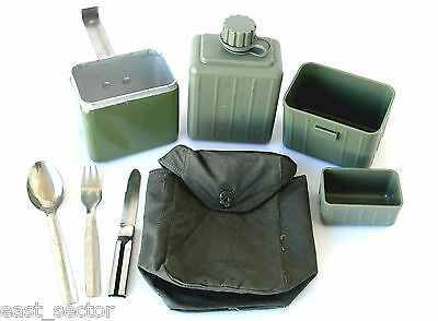 Original Military Yugo Camping Set Mess Kit Water Bottle Canteen Utensils Cover