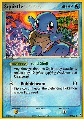 Squirtle 64/100  EX Crystal Guardians Common MINT! Pokemon