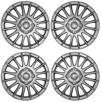 "Set of 4 15 Inch 15"" Wheel Cover Trims for Fiat Grande Punto 199 05 to 11 UX45"