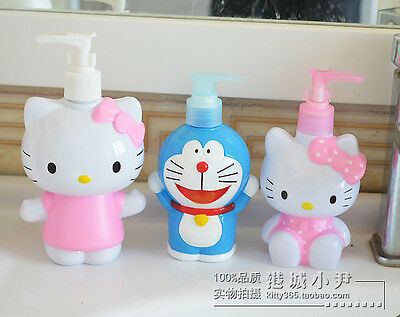 Hello Kitty Doraemon Lotion Refillable Bottle Shampoo Facial Cleanser Cream Jar
