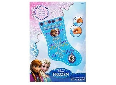 Frozen Make Your Own Christmas Stocking Elsa Anna Olaf Craft Girls Children Art