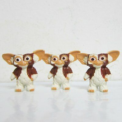 "3 Lots 1"" inch Warner Bros Gremlins Gizmo Vintage Toys Mini Figure Very Rare"