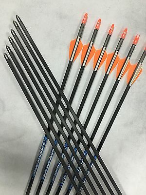 12*30''Archery carbon arrow with1.75'' vane nock complete for bow hunting sp700