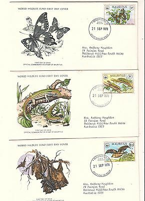 27 x WORLD WILDLIFE FUND FIRST DAY COVERS Mauritius RSA Maldive Kenya +many more