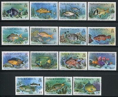 TURKS & CAICOS 1978 Fische Fishes Poissons Pesci 405-419 I (15)  ** MNH