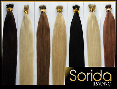 """Best Selling Nano Ring Tip Hair Extensions 16""""18""""20""""22 Remy Human Hair Straight"""
