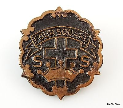 Vintage Four Square SS Pin Brooch Sunday School Little System