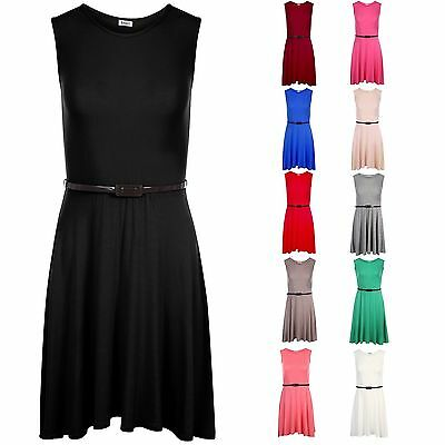 Girls Skater Dress Kids Girls Party Dresses Belted New Age  5/6 TO 13 Years Old