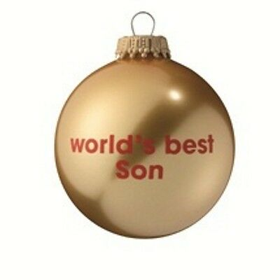 Worlds Best Son - Gold Christmas Tree Bauble