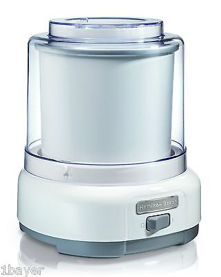 Hamilton-Beach 68880 1.5 Quart Ice Cream Maker White Hamilton-Beach