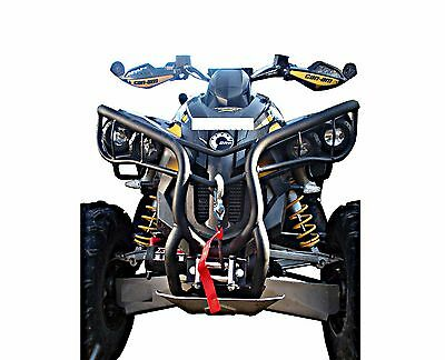 front Bumper Can AM Renegade G1 Gorilla Style Color Black with Winch Holder