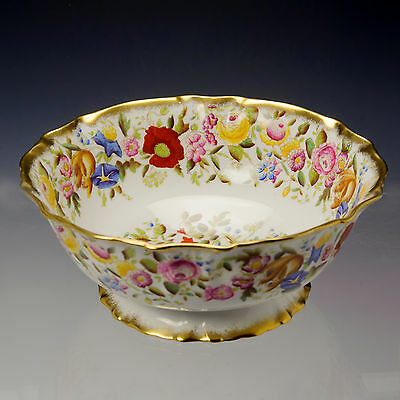 Hammersley Queen Anne Large Fine Bone China Fruit / Salad Pedistal Bowl  c.1939