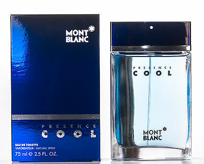 Montblanc Presence Cool Homme Eau De Toilette Spray 75 ml New and Sealed