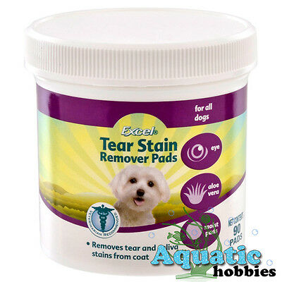 Excel Tear Stain Remover 90 Pads Removes Tear Saliva Stain From Coat Of Dog 8in1