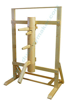 Wing Chun Wooden Dummy With Frame And Legs Natural Color