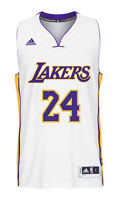 e5fb3dc07a4 Kobe Bryant #24 Los Angeles Lakers White adidas Swingman Men's Home Jersey  SMALL