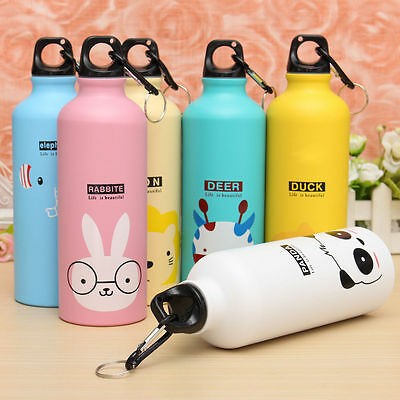 500ml Cute Cartoon Cup Mug Outdoor Sports Cycling Hiking Aluminum Water Bottle