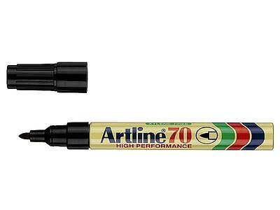 ARTLINE 70 1.5mm 12 x PERMANENT MARKER BLACK BULLET TIP