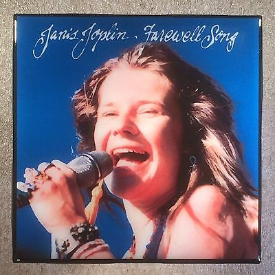 JANIS JOPLIN Farewell Song Record Cover Art Ceramic Tile Coaster