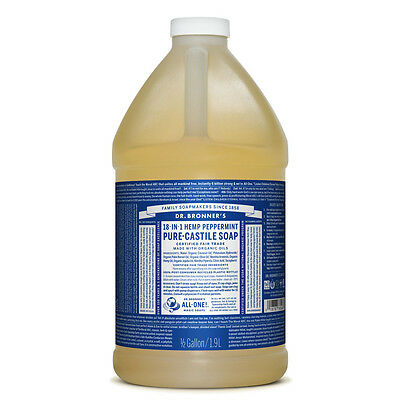 Dr. Bronner's Peppermint Organic Castile Liquid Soap 1.89 Litres | Bronners