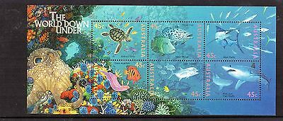 1995 World Down Under Mini Sheet Mint Never Hinged, Clean