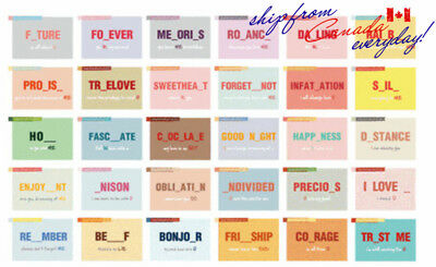 """Fill the blank with love"" greeting LOMO cards/Sold in 30 different pcs"