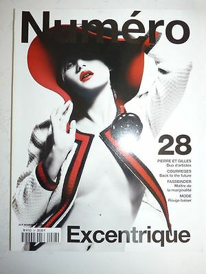 Magazine mode fashion NUMERO #28 novembre 2001 excentrique