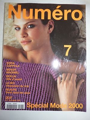 Magazine mode fashion NUMERO #7 octobre 1999 Spécial mode 2000