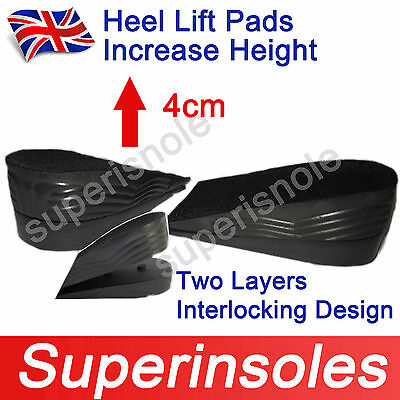Durable PU Heel Lift Heightening Pads/height increasing Taller Insoles -2 Layers
