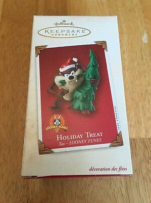 Hallmark Keepsake Taz Holiday Treat Christmas Ornament - 2002, Looney Tunes