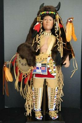 Timeless Collection Crazy Bull Indian Doll Limited Edition Porcelain NIB 26""