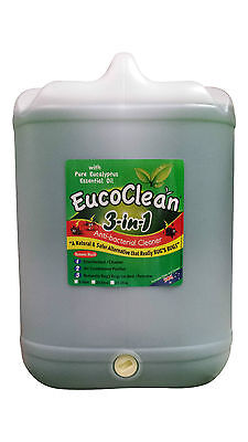 Eucoclean Eucalyptus 3in1 Anti-Bacterial Cleaner 20 Litre - FREE SHIPPING