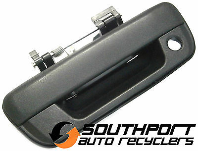 HOLDEN RODEO COLORADO or ISUZU D-MAX BLACK TAILGATE HANDLE W KEY HOLE *NEW*